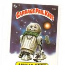Ashcan Andy License Back Sticker Card 1985 Topps Garbage Pail Kids UK Mini #13a