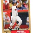 Marty Barrett Trading Card Single 2005 Topps Fan Favorites #101 Red Sox