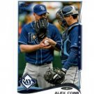 Alex Cobb Trading Card Single 2014 Topps Mini Exclusives #176 Rays
