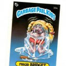 Frigid Bridget License Back Sticker 1985 Topps Garbage Pail Kids UK Mini #32a