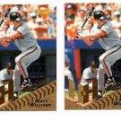 Matt Williams Hardball Heroes Lot of (2) 1996 Pinnacle #274 Giants