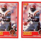 Rodney Holman RC Tradng Card Lot of (2) 1989 Score #140 Bengals