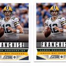 Aaron Rodgers Franchise Trading Card Lot of (2) 2013 Score #278 Packers