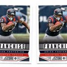 Arian Foster Franchise Trading Card Lot of (2) 2013 Score #279 Texans