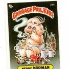 Nerdy Norman License Back Sticker 1985 Topps Garbage Pail Kids UK Mini #24b