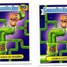 Messed Up Mario & Limber Luigi 80s Spoof Lot 2015 Topps Garbage Pail Kids #18a b