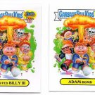 Adam Bomb Blasted Billy III Var. Card Lot 2 2015 Topps Garbage Pail Kids 1a 1b