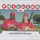Ryan Howard & Chase Utley Trading Card Single 2008 Topps #98 Phillies