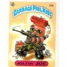 Joltin Joe License Back Sticker 1985 Topps Garbage Pail Kids UK Mini #41b