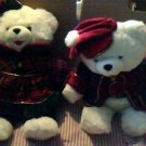 Dan Dee Snowflake Teddy Bear Set Boy & Girl 1999 No wear No Tags, 22 x 9 x 18