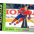 Jiri Sakic All Star Insert 2015-16 UD OPC #AS17 Canadiens