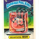 DeCapitated Hedy Sticker 1986 Topps Garbage Pail Kids #160a