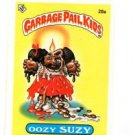 Oozy Suzy License Back Sticker 1985 Topps Garbage Pail Kids UK Mini #28a