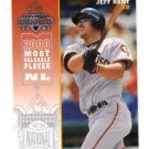Jeff Kent Trading Card Single 2003 Donruss Champions #227 Astros