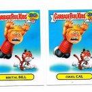 Cruel Cal Brutal Bill 80s Spoof Lot 2015 Topps Garbage Pail Kids #15a #15b