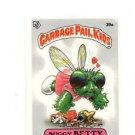 Buggy Betty License Back Sticker 1985 Topps Garbage Pail Kids UK Mini #39a