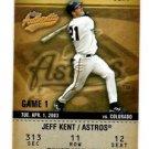 Jeff Kent Balcony Trading Card Single 2003 Fleer Authentix #99 Astros