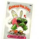 Green Jean License Back Sticker 1985 Topps Garbage Pail Kids UK Mini #39b