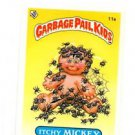 Itchy Mitchy License Back Sticker Card 1985 Topps Garbage Pail Kids UK Mini #11a