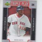 David Ortiz Triple Play Scratch Off Unscratched Insert 2007 Upper Deck  Red Sox