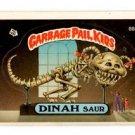 Dinah Saur Sticker 1986 Topps Garbage Pail Kids #88a NMT+