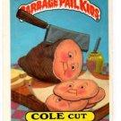 Cole Cut Sticker 1986 Topps Garbage Pail Kids #232b
