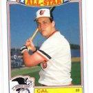 Cal Ripken Jr Trading Card Single 1987 Topps Glossy Commemorative All Star #16