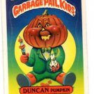 Duncan Pumpkin Sticker 1986 Topps Garbage Pail Kids #153b
