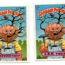 Sherwood Forest & Lee Tree Sticker Lot (2) 1986 Topps Garbage Pail Kids #243