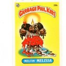 Meltin' Melissa License Back Sticker 1985 Topps Garbage Pail Kids UK Mini #28b