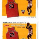 Michael Jordan Jersey Entry Card Lot of (2) 1999-00 UD Victory NNO Bulls