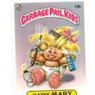 Hairy Mary License Back Sticker 1985 Topps Garbage Pail Kids UK Mini #12b