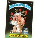 Ailin Alan License Back Sticker 1985 Topps Garbage Pail Kids UK Mini #15a