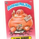 Slobby Robbie License Back Sticker Card 1985 Topps Garbage Pail Kids UK Mini 26a