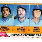 Manny Castillo Tim Ireland Mike Jones RC Trading Card 1981 Topps #66 Royals