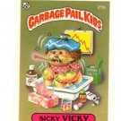 Sticky Vicky License Back Sticker 1985 Topps Garbage Pail Kids UK Mini #21b