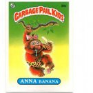 Anna Banana License Back Sticker 1985 Topps Garbage Pail Kids UK Mini #34b