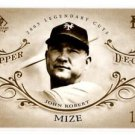 Johnny Mize Trading Card Single 2005 UD SP Legendary Cuts #43 Yankees
