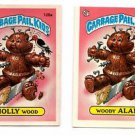 Holly Wood & Woody Alan Sticker Lot 1986 Topps Garbage Pail Kids #125a & 125b EX