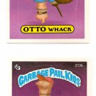 Elliot Mess Otto Whack Sticker 1986 Topps Garbage Pail Kids #213a 213b