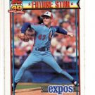 Brian Barnes RC Trading Card Single 1991 Topps #211 Expos