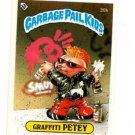 Graffiti Petey License Back Sticker 1985 Topps Garbage Pail Kids UK Mini 30b