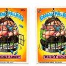 Burt Cage Harry Canary Sticker Lot 1986 Topps Garbage Pail Kids 234a 234b