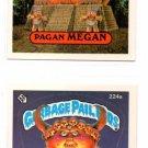 Monte Zuma Pagan Megan Sticker Lot 1986 Topps Garbage Pail Kids #224a 224b