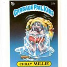 Chilly Milly License Back Sticker 1985 Topps Garbage Pail Kids UK Mini #32b