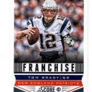 Tom Brady Franchise Trading Card Single 2013 Score #285 Patriots