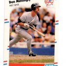 Don Mattingly Trading Card Single 1988 Fleer #214 Yankees NMT