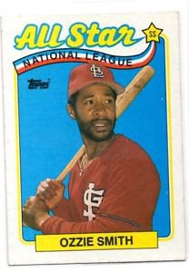 Ozzie Smith Trading Card Single 1989 Topps #389 Cardinals NMMT