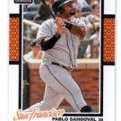 Pablo Sanodval Trading Card Single 2014 Donruss #159 Giants