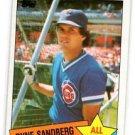 Ryne Sandberg Trading Card Single 1985 Topps #713 Cubs AS